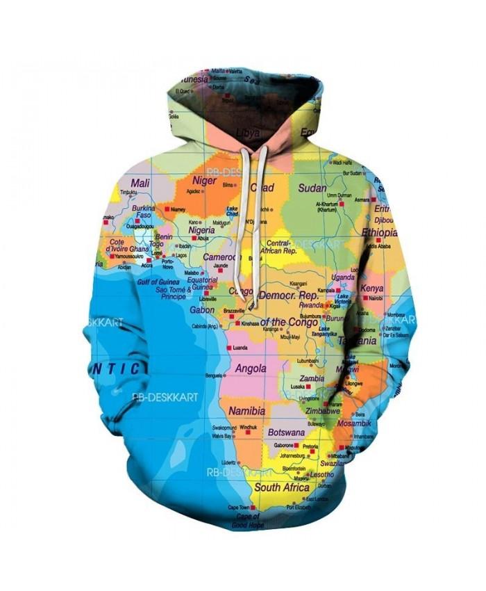 Map 3D Printed Men Pullover Sweatshirt Pullover Hoodie Casual Hoodies Fashion Men Hoodie Streetwear Sweatshirt