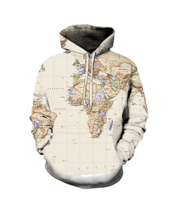 Map South Pole 3D Printed Men Pullover Sweatshirt Pullover Hoodie Fashion Casual Men Streetwear Sweatshirt Hoodies