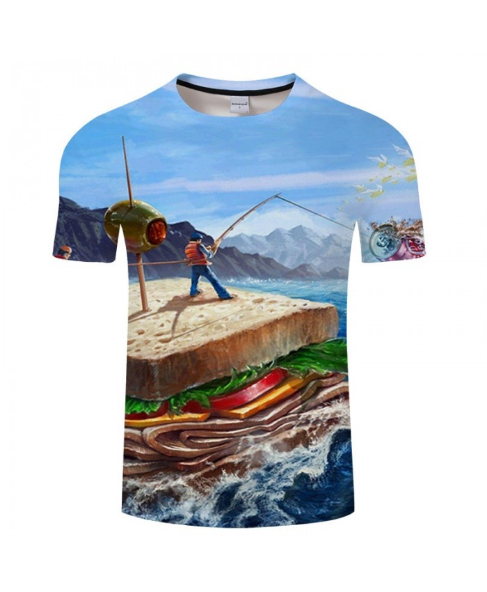 Maritime Garbage 3D Print T Shirt Men tshirt Summer Casual Slim Men tshirt Short Sleeve O-neck Tops&Tee Drop Ship