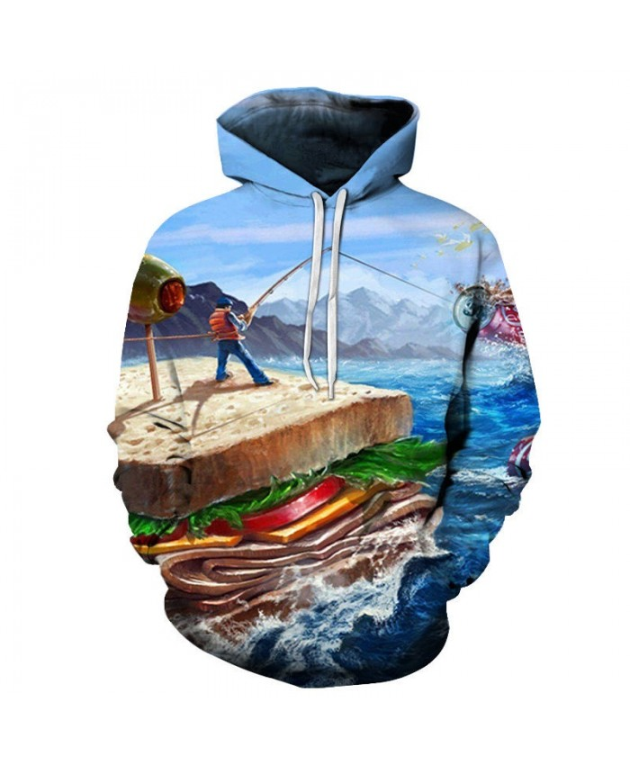 Maritime Garbage 3D Printed Mens Pullover Sweatshirt Clothing for Men Custom Pullover Hoodie 2021 Pullover Hoodie