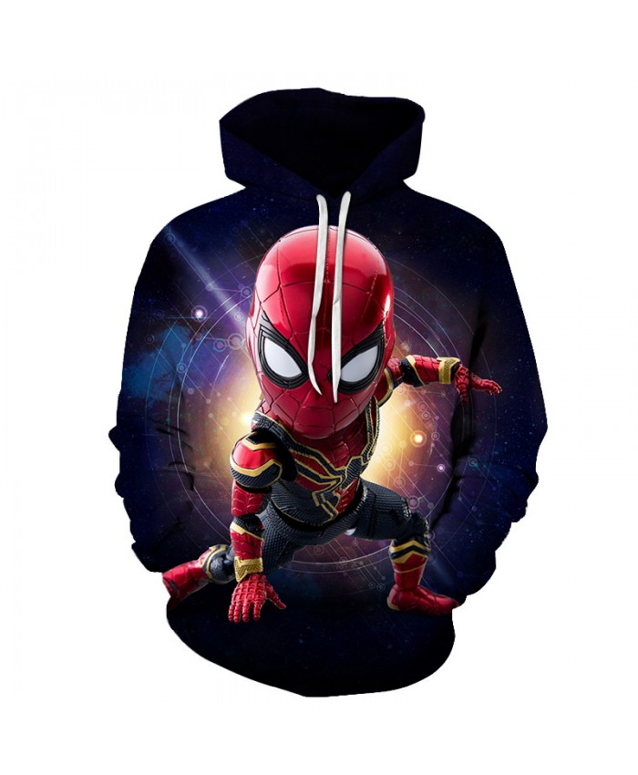 Marvel Iron Spiderman 3D Print Hoodie Men Women 2019 New Hoodies Men Funny Hip Hop Sweatshirts Fashion Novelty Streetwear Jacket