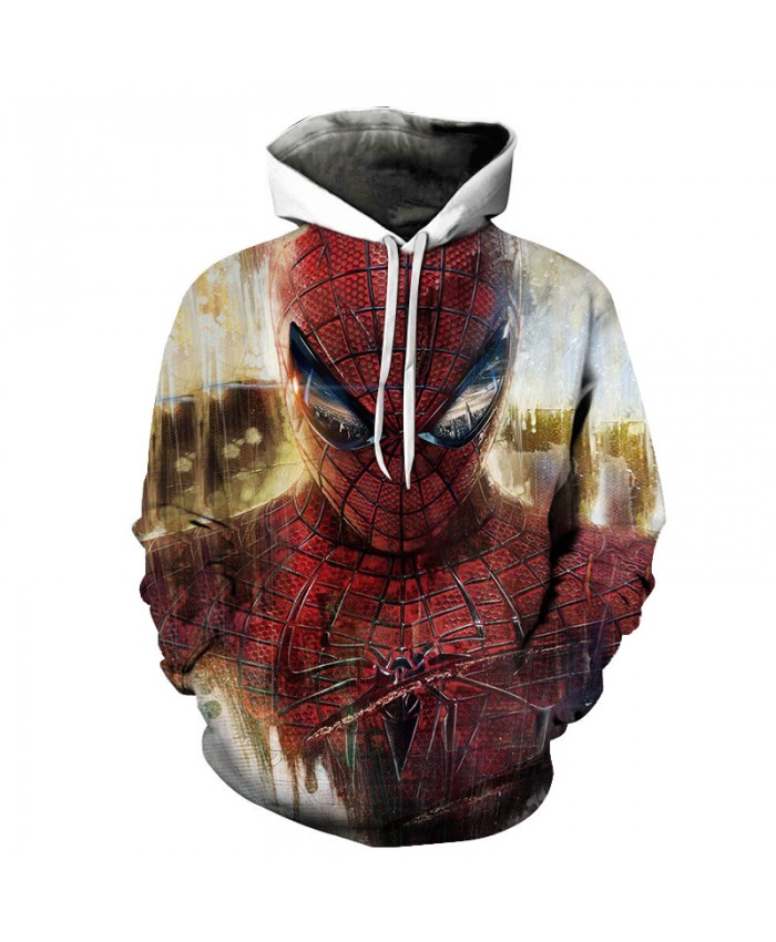 Marvel Spiderman 3D Hoodie Men 2021 New Design Men Hoodies Funny Hip Hop Sweatshirts Fashion Men Women Novelty Streetwear Jacket
