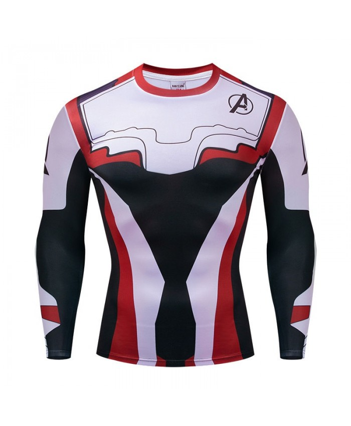 Marvel T-shirts Men Fitness Compression Tshirts Bodybuilding Tops A Long Sleeve Tees Brand Avengers Endgame