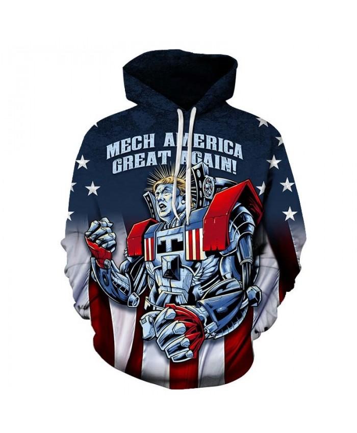 Mech Averica Mens Pullover Sweatshirt hoodies Pullover Sweatshirt Fashion Hoodie Long Sleeve 2019 New Tops Sell Men