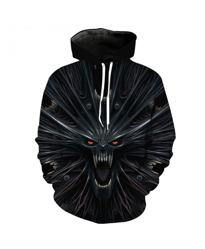 Men's Hip-hop Hoodie Street Wear Thousand Devil Skull Printed Sweatshirt Pullover Tracksuit Pullover Hooded Sweatshirt