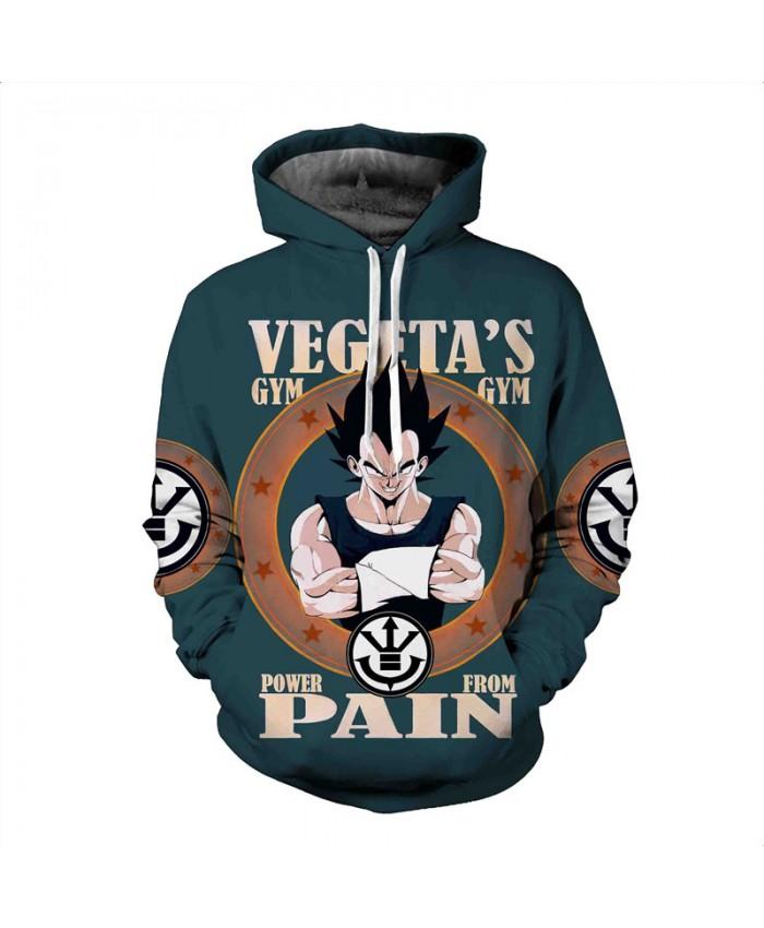 Men's Hooded Sweatshirt Dragon Ball Hoodie Sweatshirts 3D Anime Vegeta Hoodies Homens Sweat Homme Sudaderas