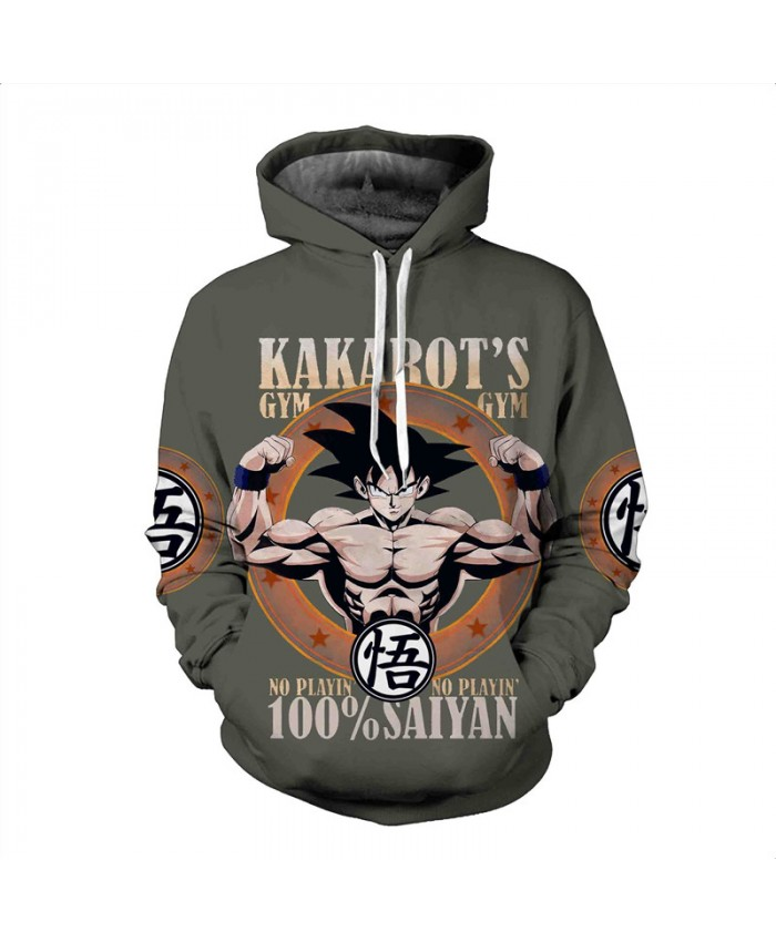 Men's Hooded Sweatshirt Dragon Ball Hoodie Sweatshirts 3D Anime Vegeta Hoodies Homens Sweat Homme Sudaderas A