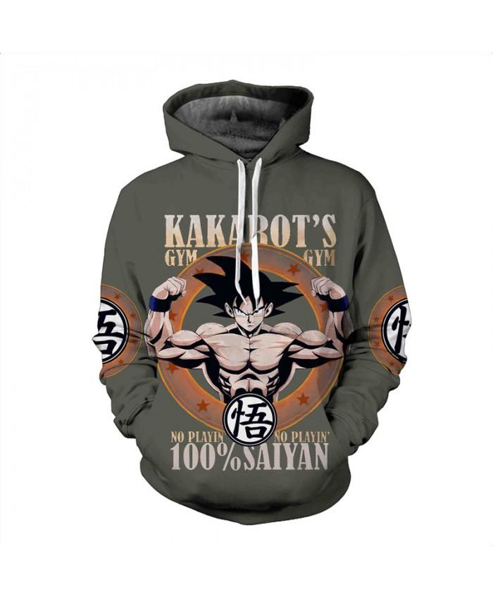 Men's Hooded Sweatshirt Dragon Ball Hoodie Sweatshirts 3D Anime Vegeta Hoodies Homens Sweat Homme Sudaderas A