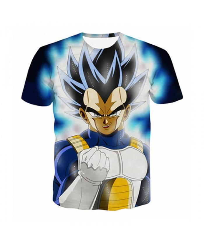 Men's Short Sleeve 3D Animation Cartoon Tee shirt Dragon Ball Ultra Instinct Super Saiyan Kids Goku Vegeta Printed T-Shirt 5XL