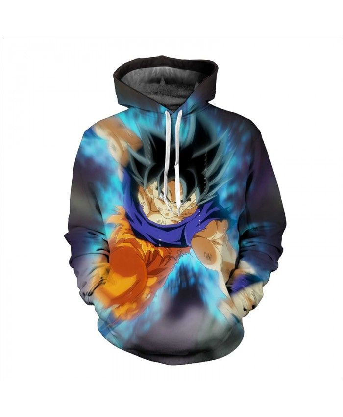 Men 3D Anime Hoodies Dragon Ball Z Pocket Hooded Sweatshirts Male Kids Goku Vegeta Printed Hoodies Boys Pullovers Tracksuits