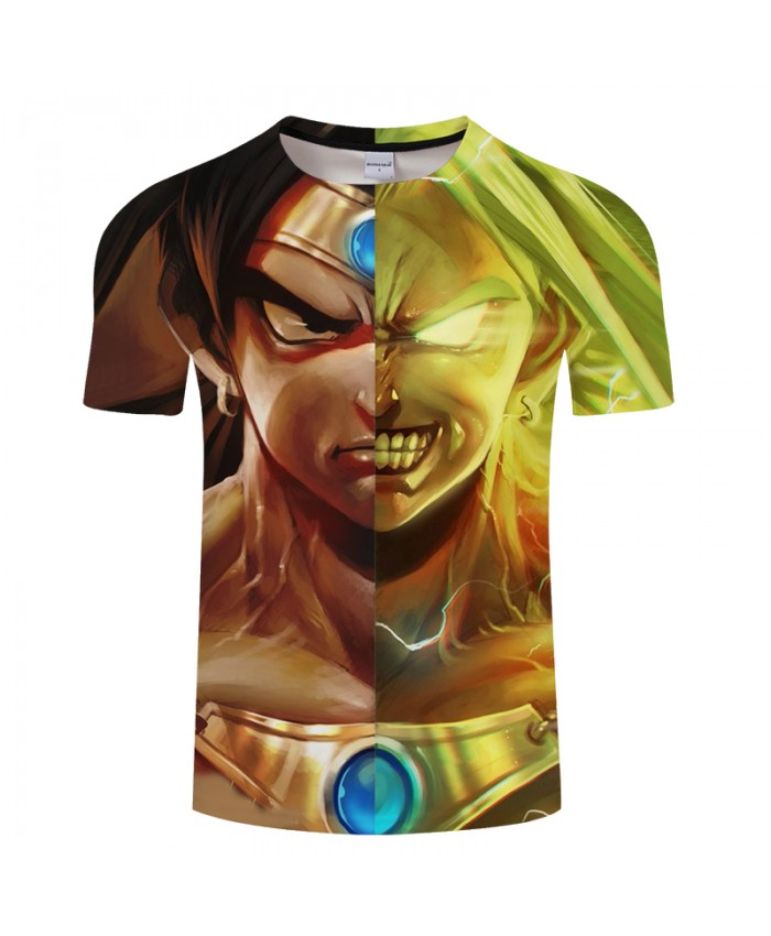 Men 3D Print Dragon Ball Summer Anime ShortSleeve Streetwear Top&Tee Tshirts Short Sleeve 2018 New Goku Drop Ship