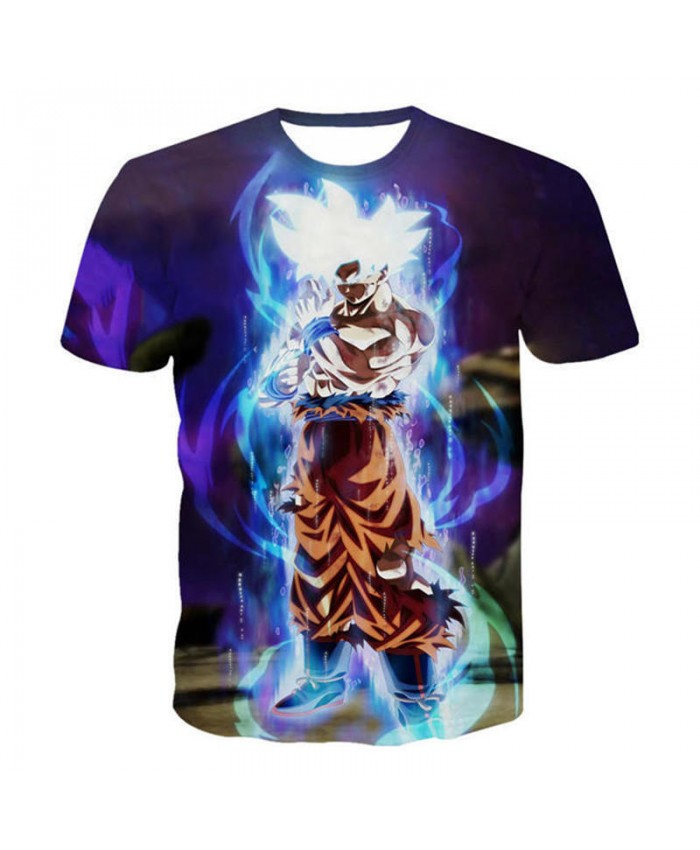 Men 3D T Shirts Kids Son Goku Tops Dragon Ball Z DBA T Shirt Ultra Instinct Super Saiyan Printed Cartoon Tshirt Teen Streetwear