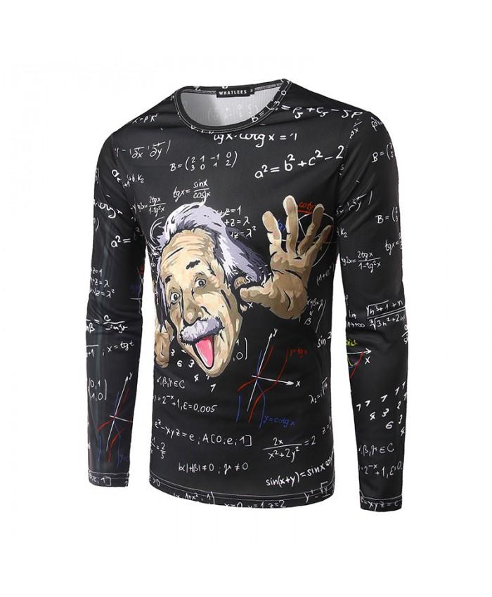 Men Einstein 3D t shirt Funny Tops Long Sleeve Novelty Fashion Printed Spring Autumn T-shirts 2021 Camisetas