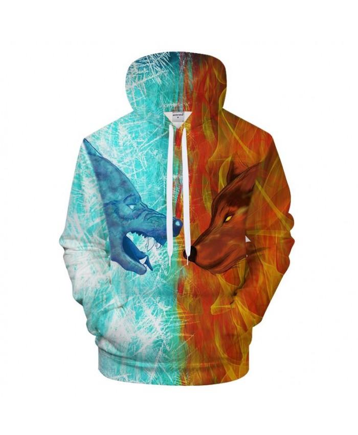 Men Hoodies 3D Wolf Hoody Print Sweatshirt Streatwear Tracksuit Casual Coat Pullover Hoodie Unisex Hit Color Dropship