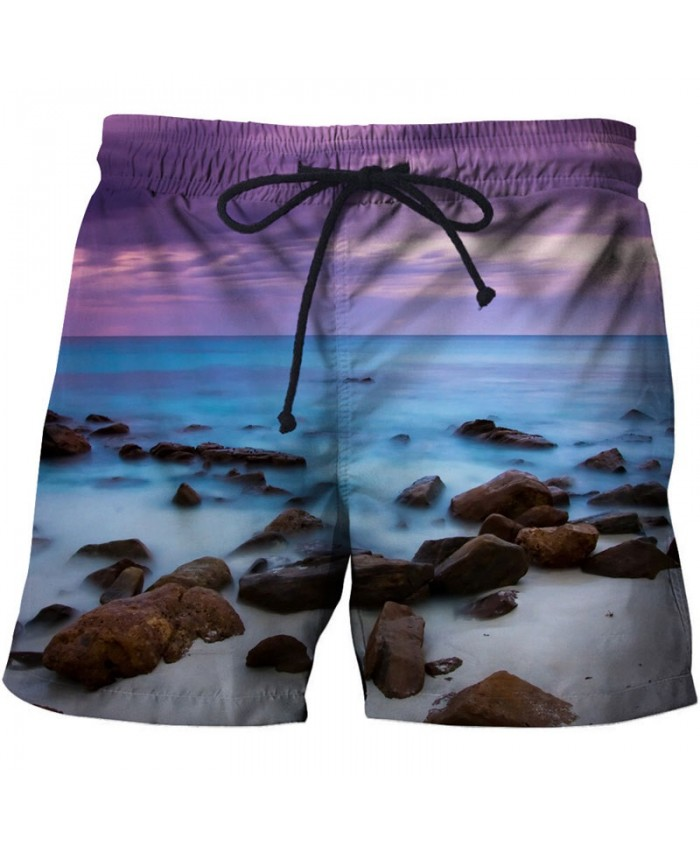 Men Sea Reef Board Shorts 3D Print Men Shorts Casual Summer Cool Men Elastic Waist Male Fitness Shorts Drop Ship