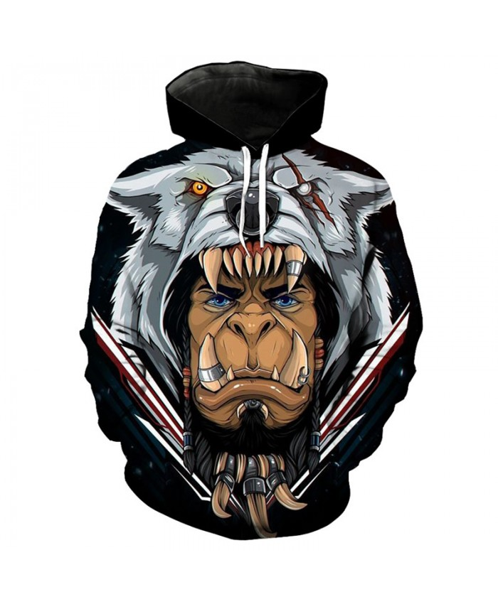Men Women 3D Hoodie Durotan print cool hooded sweatshirt Fashion hooded pullover