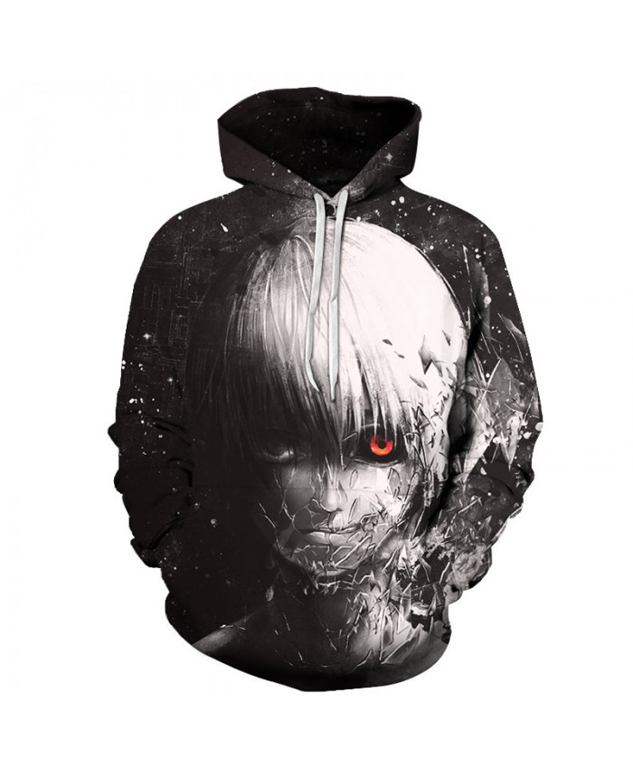Men/Women Cool Anime Harajuku 3D Hoodies Pullovers Tokyo Ghoul Print Hooded Sweatshirt Halloween Boy Streetwear Hip Hop Hoodie