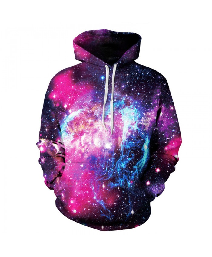 Men Women Fashion Hooded Sweatshirt Starry Sky 3D Print Sportwear