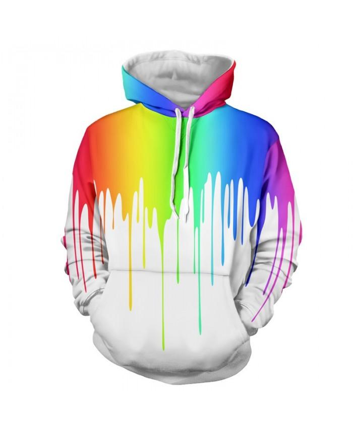 Men Women Fashion Hoodies 3D Printing Bright Color Paint Patterns Cool Sweatshirt C