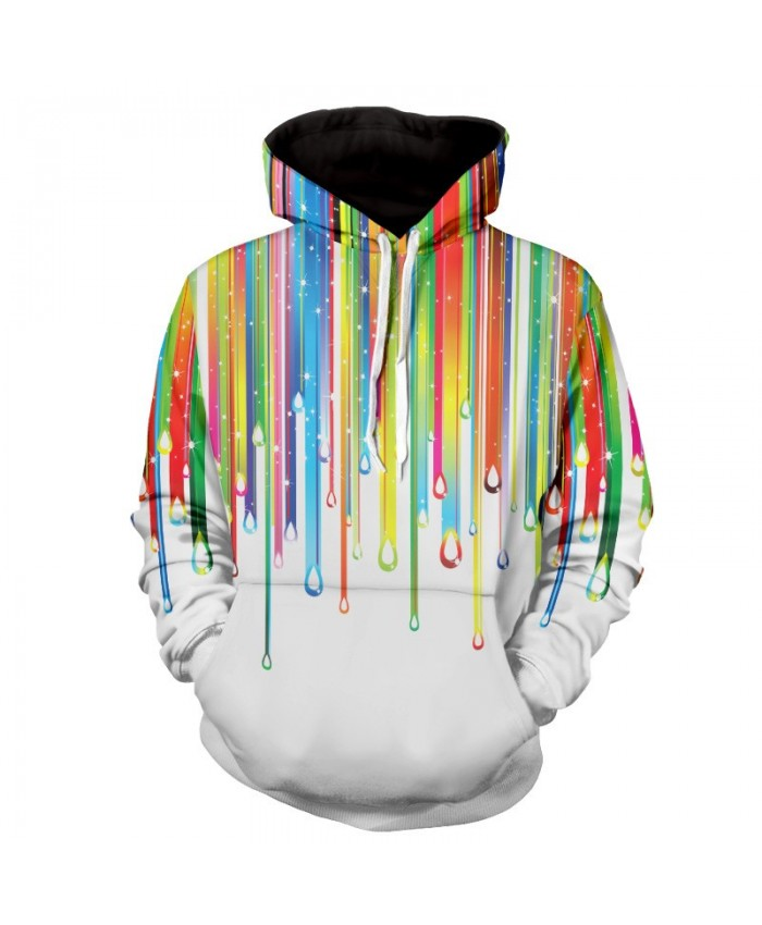 Men Women Fashion Hoodies 3D Printing Bright Color Paint Patterns Cool Sweatshirt E