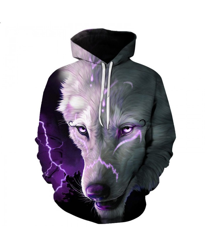 Men Women Hoodies 3D Punk Wolf Sweatshirts Funny 2021 Animal Pattern Pritned Pullover Autumn Winter Hooded Streetwear S-6XL