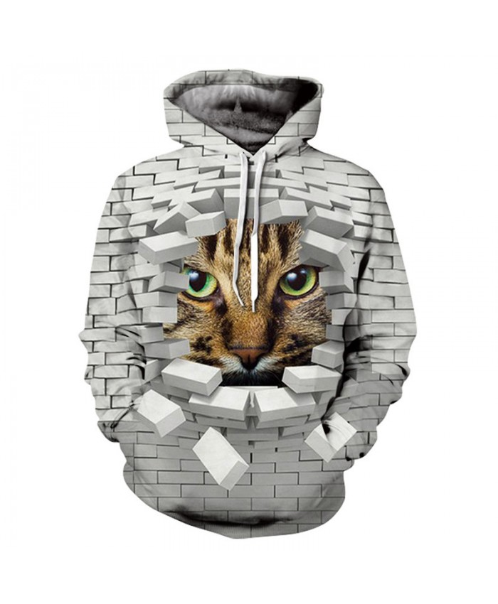 Men&Women Hoodies Hoody Sweatshirts Cat 3D Print Animal Couple Plus Size Hoodie Pullovers Autumn Windbreaker Outwear Tracksuit
