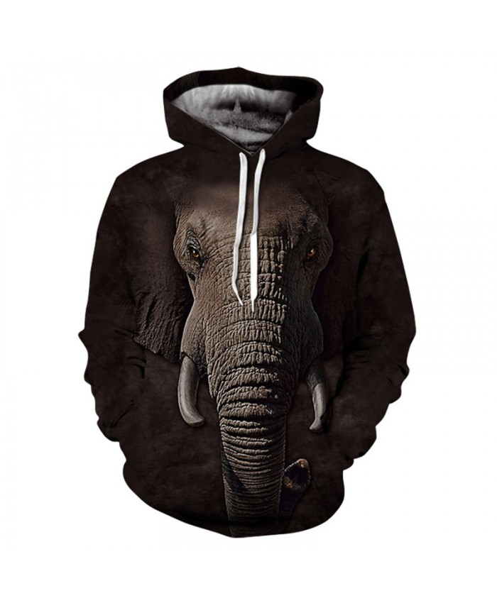 Men&Women Hoodies Hoody Sweatshirts Elephant 3D Print Animal Couple Plus Size Hoodie Pullovers Autumn Windbreaker Outwear Tracksuit