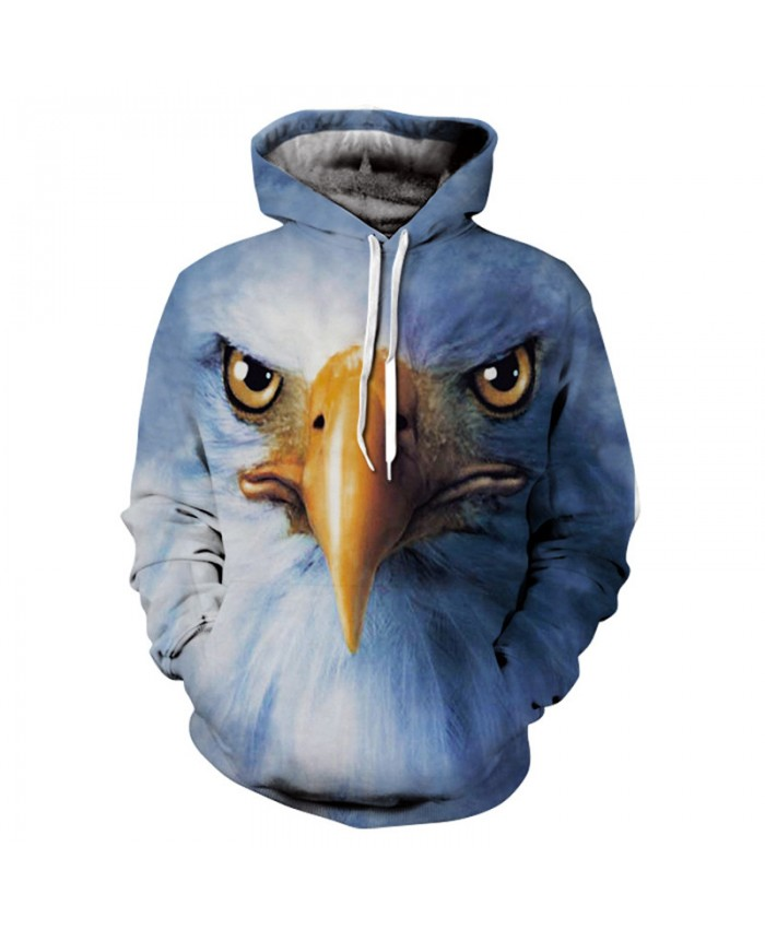 Men&Women Hoodies Hoody Sweatshirts Hawk 3D Print Animal Couple Plus Size Hoodie Pullovers Autumn Windbreaker Outwear Tracksuit