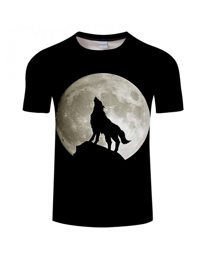 Men Women tshirt 3D T-shirt Men Wolf t shirt Harajuku Tees Streatwear Tops Summer Camiseta Short Sleeve Moon Drop Ship