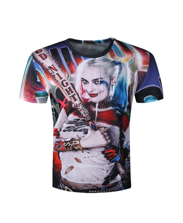 Mens Harley Quinn Joker T Shirts 3D Deadshot T-shirts Funny Movie Tops Summer Suicide Squad Camisetas 2021 T shirt