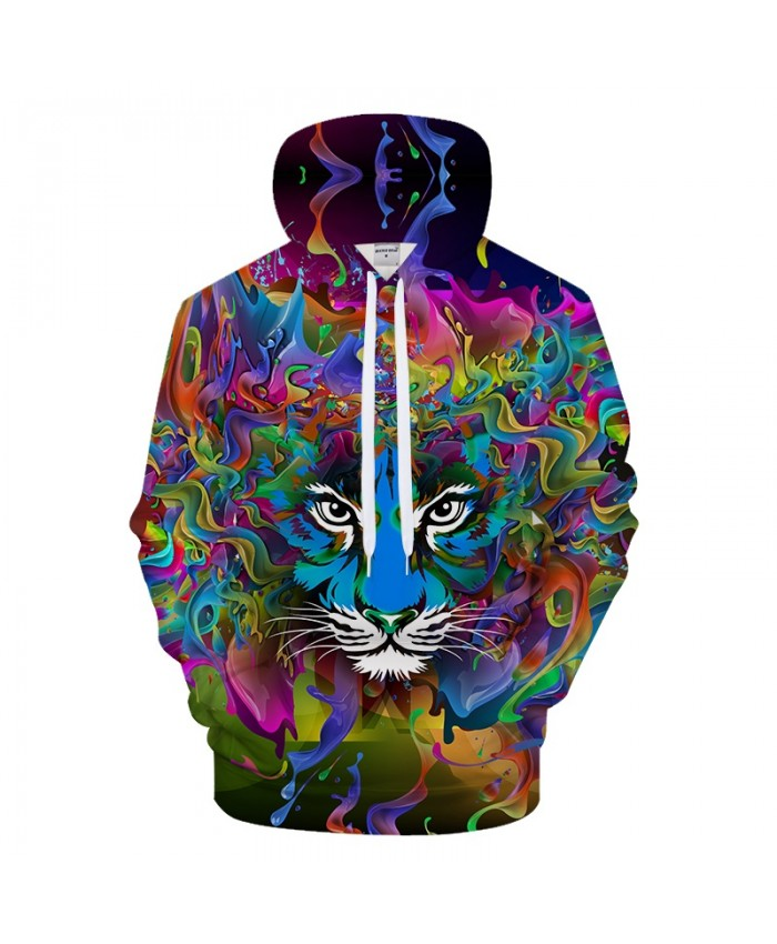 Mens Hoodies 3D Printed Hoody Tiger Pullover Animal Tracksuit 6xl Sweatshirt Streetwear Cloth Hiphop Coat DropShip