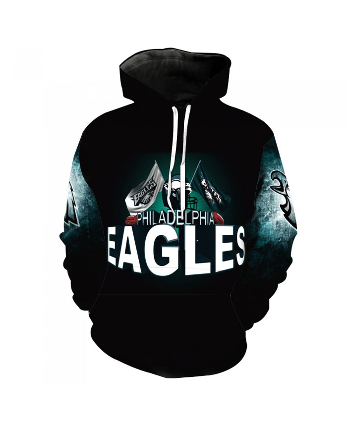 Men's and women's Sweaters Eagles NFL Team Sweater Hoodie NFL Football Team 3D Printing Sweater Hoodie