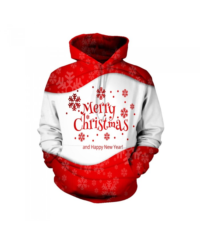 Merry Christmas red and white Funny Fashion Christmas Hoodie Sweatshirt