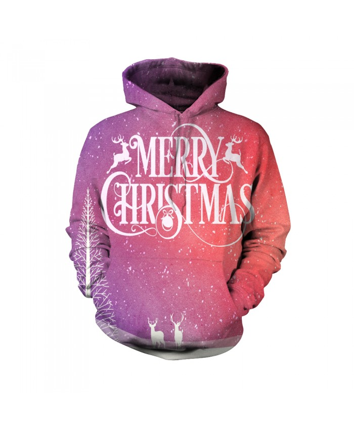 Merry christmas pink pattern Funny Fashion Christmas Hoodie Sweatshirt