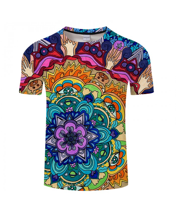 Microcosm Mandala By Art 3DPrint T shirt Men Summer Casual ShortSleeve Top&Tee BoyTshirt Streetwear DropShip