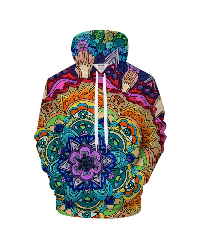 Microcosm Mandala By Rachel RosenkoetterArt 3D Pattern Print Hoodies Men Women Casual Sweatshirt BrandTracksuit Pullover Jacket
