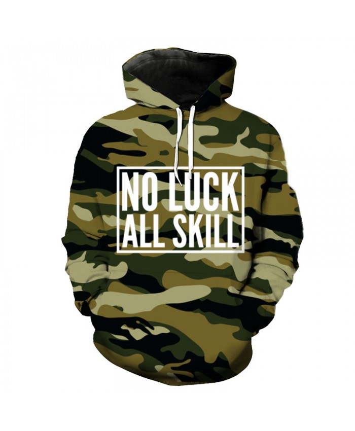 Military Style Army Green Camouflage Hooded Sweatshirt Autumn Pullover