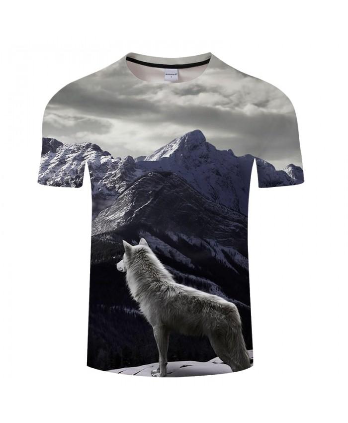 Miss Wolf&Mountains 3D Print t shirt Men Women tshirt Summer Casual Short Sleeve O-neck Hip Hop Tops&Tees Drop Ship