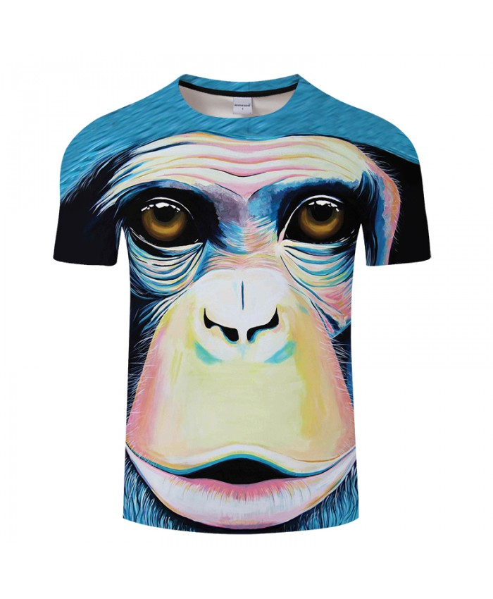 Monkey T shirt Men 3D T-shirt Funny Printed Animal Top Male Short Sleeve Tees Novelty Streetwear Drop Ship Camiseta