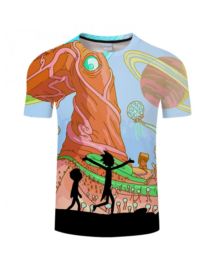 Monster&Rick and Morty 3D Print t shirt Men Women tshirt Summer Anime Short Sleeve O-neck Tops&Tee Hot Drop Ship