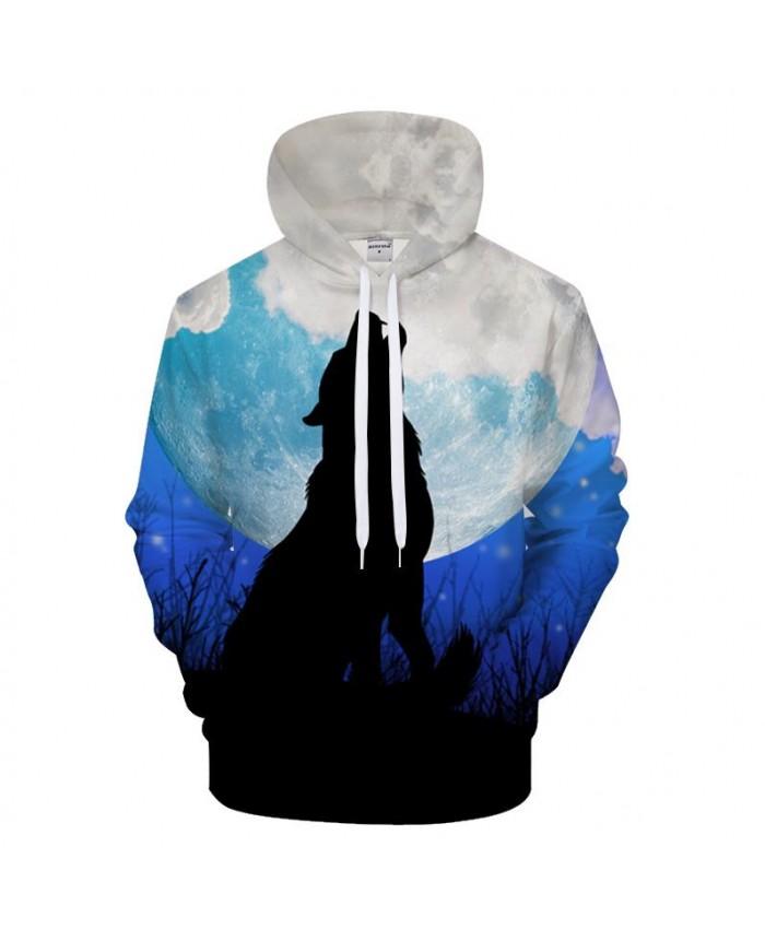 Moon 3D Hoodies Men Wolf Hoody Print hoodie Harajuku Sweatshirt Streatwear Tracksuit Pullover Coat Unisex Drop ship