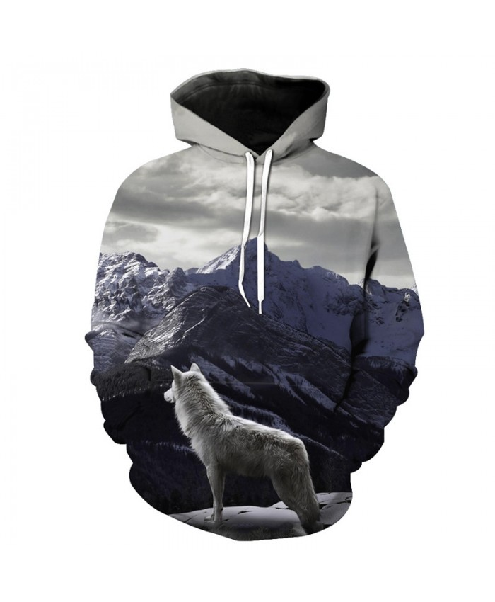 Mountains Wolf Casual Pullover Latest Hooded Sweatshirt Tracksuit Pullover Hooded Sweatshirt