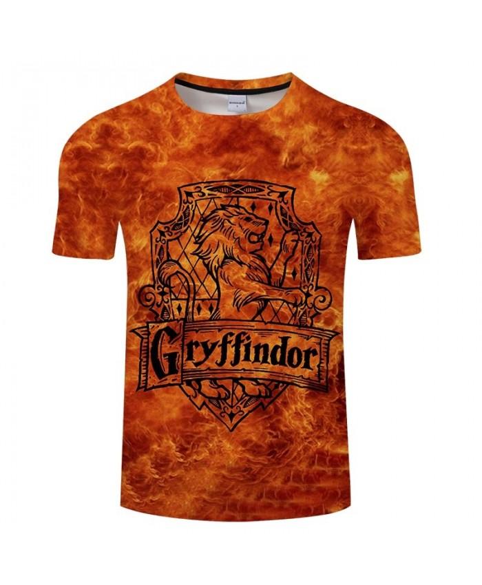 Movie 3D Print Gryffindor Men tshirt Mens Shirt Casual Summer Short Sleeve Male T Shirt Men Brand Round Neck Men