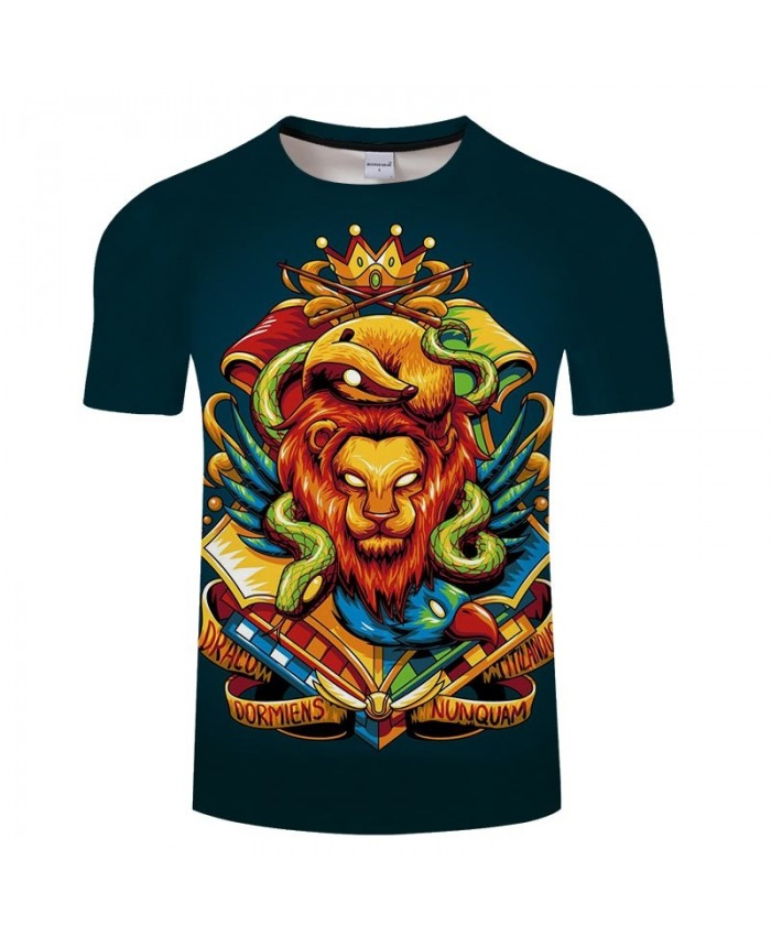 Movie 3D Print Snake Wrapped Lion Men tshirt Crossfit Shirt Casual Summer Short Sleeve Male T Shirt Men Brand Men