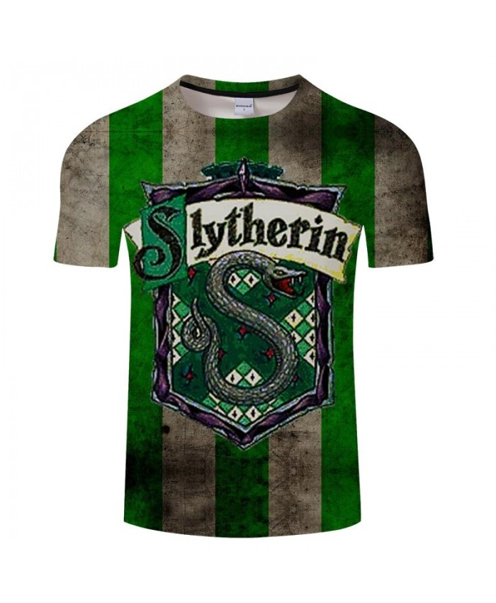 Movie 3D Printed Green School Badge Men tshirt Crossfit Shirt Casual Summer Short Sleeve Male T Shirt Men Brand Men