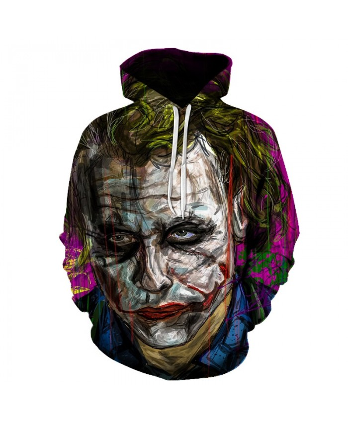 Movie 3D Sweatshirts Joker Men Hoodies Pritned Funny Badass Pullover Unisex 6XL Autumn Hot Sale Outwear Pockets Hoodies Coats