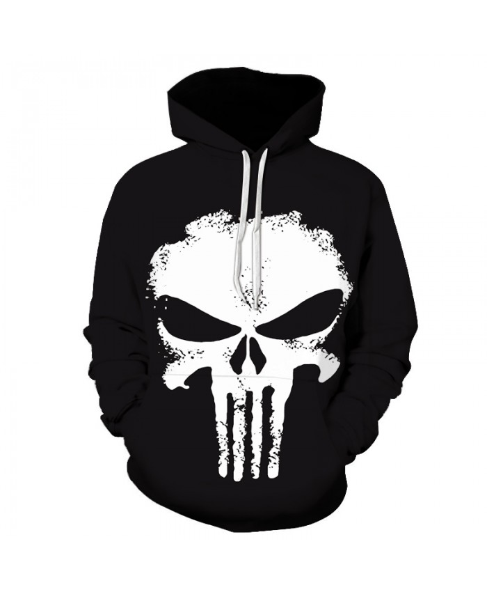 Movie Punisher Hoodies Men 2017 Male Hoodie Letters Printed Sweatshirt Mens Anime skull Hooded Sweatshirt Pullover 3-6XL Size