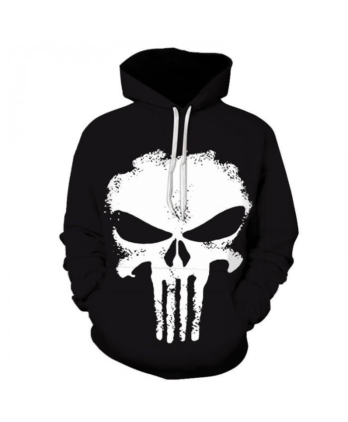 Movie Punisher Hoodies Men 2021 Male Hoodie Letters Printed Sweatshirt Mens Anime skull Hooded Sweatshirt Pullover 3-6XL Size