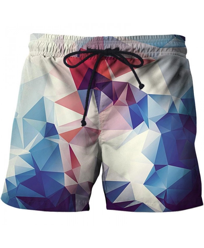 Multilateral Graphics 3D Print Men Shorts Casual Cool Elastic Men Stone Printed Beach Shorts Male Fitness Shorts