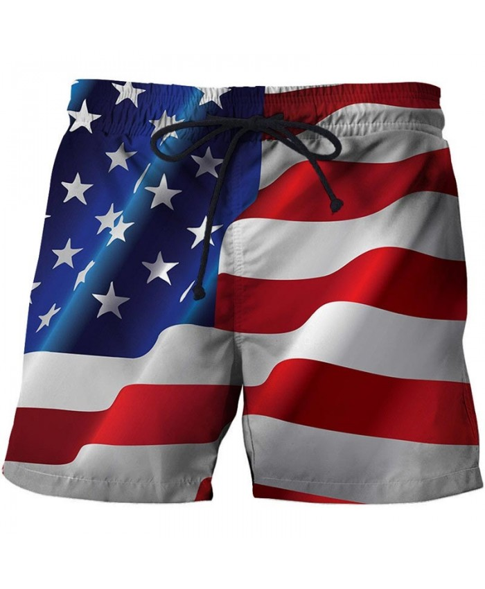 Multiple Horizontal Lines Men 3D Printed Beach Shorts Summer Male USA Flag Breathable Watersport Summer Board Short